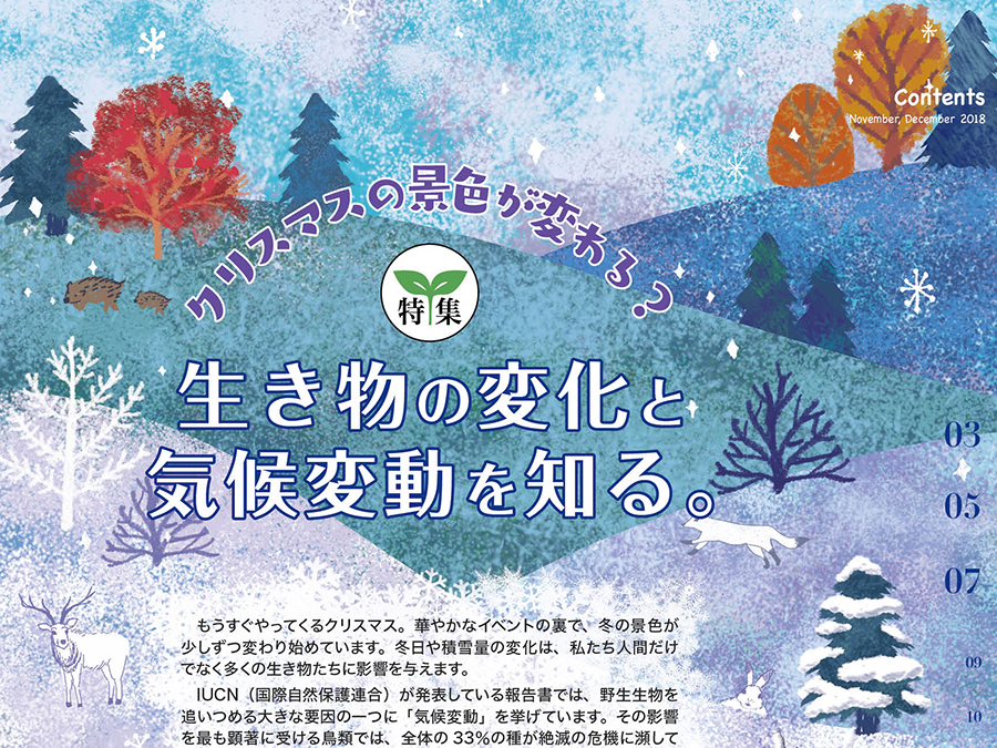 クリスマスの景色が変わる?生き物の変化と気候変動を知る。